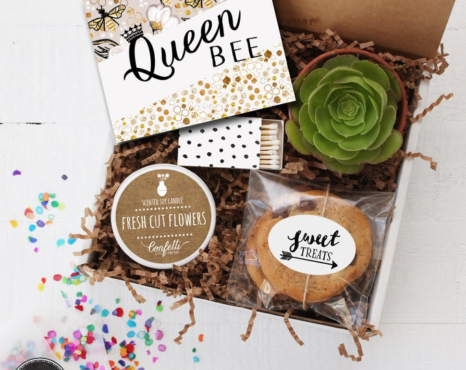 Queen Bee Gift Box - Thinking of You Gift | Thank You Gift | Friend Gift | Get Well Gift | Best Friend Gift |Gift For Her