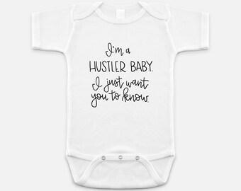 I'm a Hustler Baby, Hip Hop Onesie, Funny Baby, Rap Lyrics Shirt, Hip Hop Lyrics, Baby Onesie, Baby Shower Gift