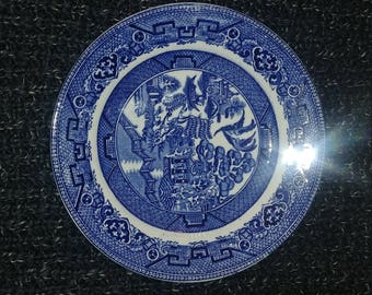 5 Blue Willow Bread Plates- Ye Olde Willow
