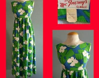 1960s pop art Hawaiian dress.