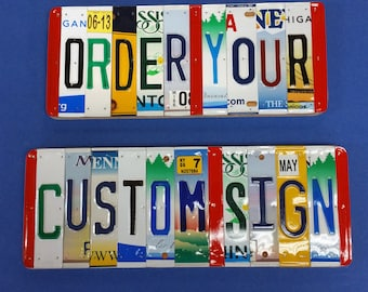 10 Year Anniversary Gift License Plate Sign Unique Handmade Personalized Gift