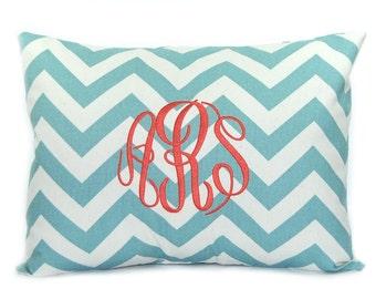Personalised Gift - Monogram Pillow - Decorative Pillow - Dorm Decor - New Baby Gift - Three Letter Script Monogram - Housewarming Gift