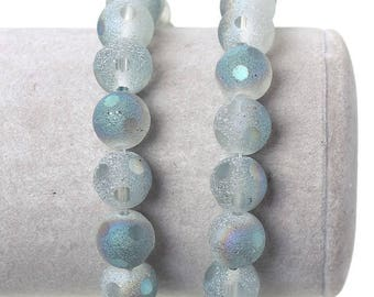 20 color AB 10 mm frosted glass beads