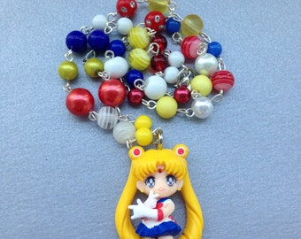 Sailor Moon // Love & Justice Pose // Beaded Necklace