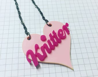 Knitter Necklace