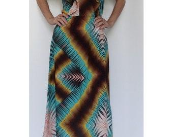 Bohemian maxi dress vintage inspired Flares sleeves  by Laura Vanvolsem // vintage inspired // BOHEMIAN maxi dress // size us6
