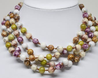 Lovely soft tone beaded necklace