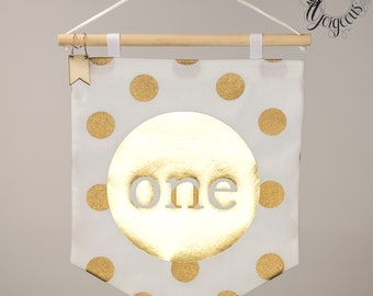 ONE Birthday Fabric banner - Clearance