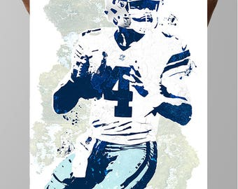 Fan art poster, Dak Prescott Dallas Cowboys Poster, Wall art, Sports Poster, Fan art, Wall Art, Sports art, Sports Print, Kids Decor