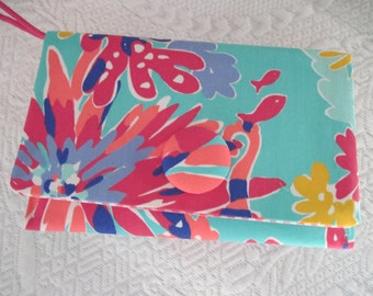 Lilly Resort Fabric Wristlet Clutch