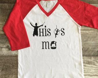 The Greatest Showman Girls Kids Womens Juniors Teen Top Long Sleeve T Shirt Aqua Gray Raglan tshirt This is Us Bearded Lady TSLM