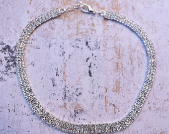 BELLE CHOKER, Rhinestone Choker, Crystal Choker, Rhinestone necklace