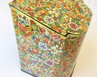 Vintage English Flower Tin