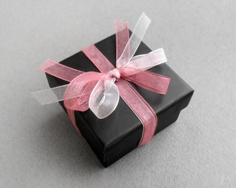 Gift Box Upgrade for jewellery bought from JustynaSart, stud earrings or ring, packaging upgrade, jewellery wrapping