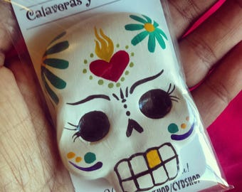 Calaca magnet, calavera, sugarskull, Dia De Los Muertos, day of the dead
