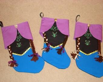 "Disney's ""Frozen""-inspired Anna Christmas Stocking"