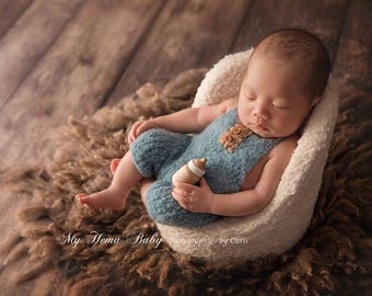 "Nuppy newborn ""Patric"" set, newborn hats, newborn romper , newborn props , newborn prop, newborn romper, photography props, baby hat"