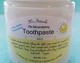 Re-Mineralizing Toothpaste - Natural Ingredients -4 oz jar