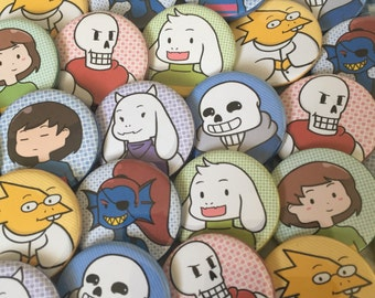 Undertale - The Players [Pinback Buttons]