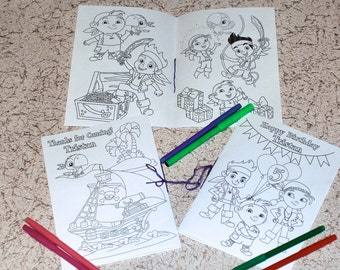 Jake and the Neverland Pirates Birthday Party coloring activity book, PDF