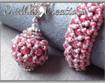 "Beaded bracelet and pendant - ""Ribbon"" - tutorial"