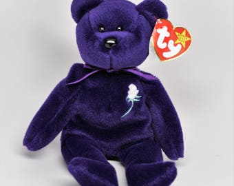 TY PRINCESS Beanie Baby ~ 1ST EDITION ~ Ty Beanies ~ Ty Beanie Babies ~ Princess Di ~ Princess Diana Bear ~ Princess Di Beanie Baby