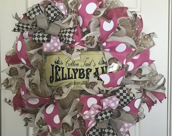 Whimsical summer wreath pink