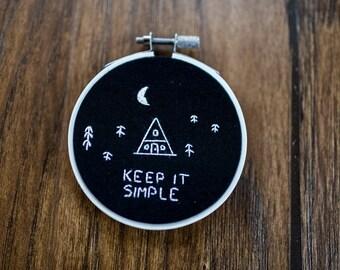 Hand Embroidered Hoop Art: Keep it Simple