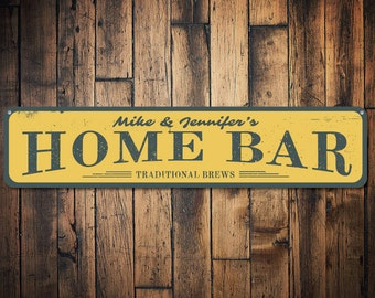 Home Bar Sign Personalized Bar Sign Traditional Brew Beer Sign Custom Beer Sign Beer Lover Sign Bar Decor Quality Aluminum Ens1001369