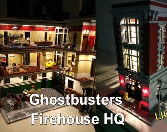 Light up kits for LEGO 75827 Ghostbusters Firehouse HQ - (Model not included)