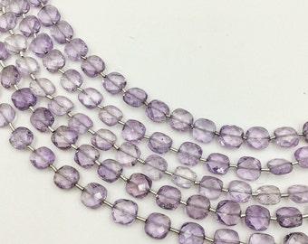 "Amethyst Checker Beads 4-5mm (ONE 8"" Strand)"