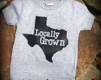 Locally Grown state infant t-shirt