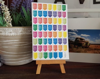 Pay Roll Planning Stickers - Erin Condren, Kikki K, Filofax, Happy Planner