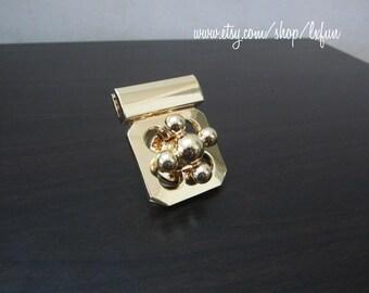 Gold Purse Lock Clutch Bag Lock Turn Lock Fastners - one set
