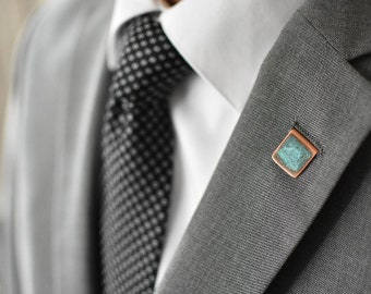 Copper Patina Lapel Pin