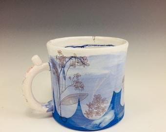 Blue 4get me not! & squirrel stick up mug!