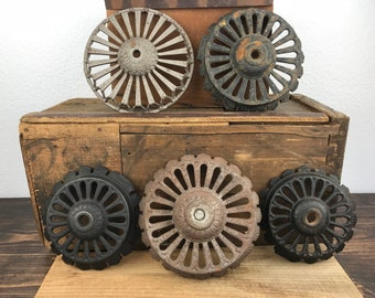 5 Assorted, Vintage, Iron, Sconce Lighting, Parts, Steampunk, Industrial, Look 456B