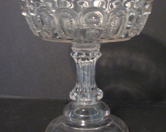 Antique EAPG Compote Indiana Eight O Eight Flint Glass Number 808