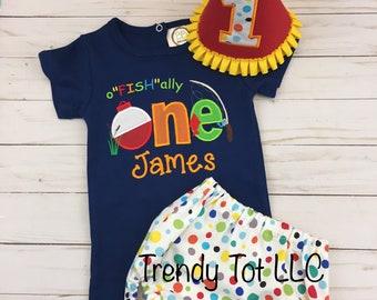 """Boy First Birthday Fishing Outfit,0""""fish""""ally One Cake Smash Set, Fish One Birthday, Trendy Tot, Boys 1st Birthday, ofishally"""