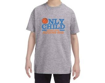 Only Child Expiring Basketball Season Ending Soon Due Date Shirt