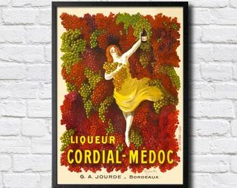 Cordinal-Medoc Vintage Poster - Digital HQ Print - 4 Sizes