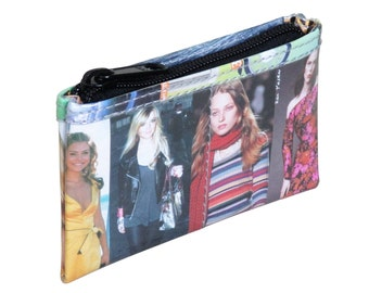 Fashion magazines zip coin purse - FREE SHIPPING - Fashionista gifts, Instagram wallet , vegan wallet,  Sister gift ideas, Recycled