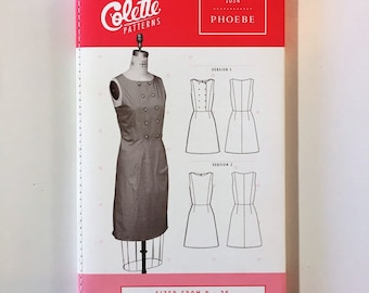 The Phoebe Dress by Colette Patterns - Paper Sewing Pattern - Sleeveless Sheath Dress Pattern - Womens sizes 0 to 26