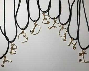 Wire Initial Pendants (A-I)