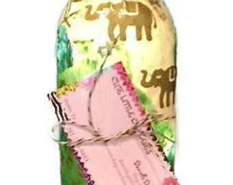 Wine Bottle Light in Colors of Your Choice, Upcycled Wine Bottle, Wine Bottle Lamp, Decorative Wine Bottle