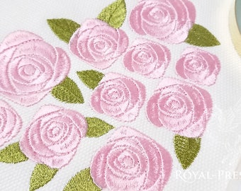 Machine Embroidery Design Heart of roses - 3 sizes