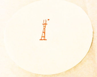 Little Sutro Tower Stamp /// Mini Stamp /// San Francisco /// Twin Peaks