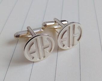 Personalized Cufflinks,Wedding Cufflinks,Two Letter Monogram Cufflinks,Groom Cufflinks,Engraved Cufflinks,Groom Gift from Bride