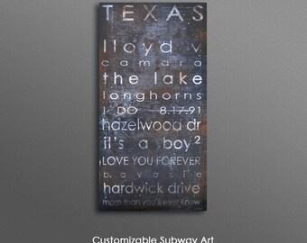 Custom Subway City Art, Destination Blinds Art, Subway Art, Z Gallerie like by Geordanna