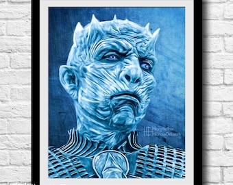 Night King Portrait, Season 5, Game of Thrones